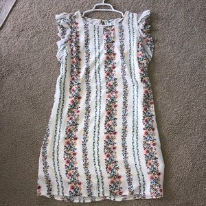 Old Navy cream floral dress